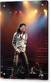 Michael Jackson Bad World Tour Acrylic Print by Jim Steinfeldt
