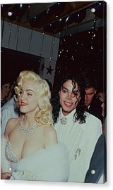 Michael Jacksonmadonna Acrylic Print by Time Life Pictures