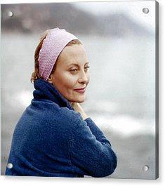 Michele Morgan In Venice, 1960s Acrylic Print by Keystone-france