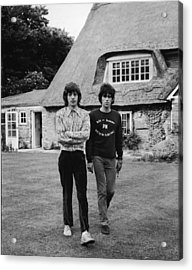 Mick & Keith In The Country Acrylic Print by Express Newspapers