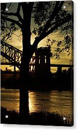 Mid Autumn Silhouette Acrylic Print