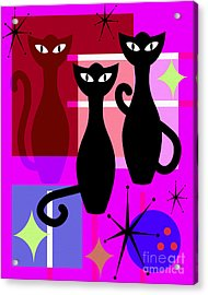 Mid Century Modern Abstract Mcm Bowling Alley Cats 20190113 M103 Acrylic Print