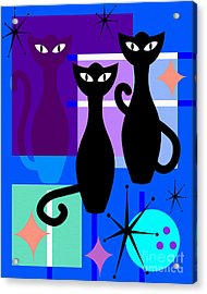Mid Century Modern Abstract Mcm Bowling Alley Cats 20190113 M180 Acrylic Print