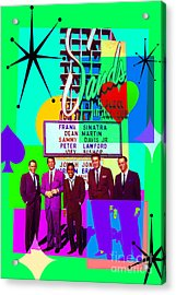Mid Century Modern Abstract The Rat Pack Frank Sinatra Dean Martin And Sammy Davis Jr 20190120 P112 Acrylic Print