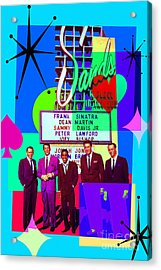 Mid Century Modern Abstract The Rat Pack Frank Sinatra Dean Martin And Sammy Davis Jr 20190120 P160 Acrylic Print by Wingsdomain Art and Photography