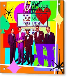 Mid Century Modern Abstract The Rat Pack Frank Sinatra Dean Martin And Sammy Davis Jr 20190120 Sq Acrylic Print