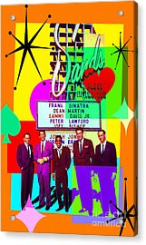 Mid Century Modern Abstract The Rat Pack Frank Sinatra Dean Martin And Sammy Davis Jr 20190120 Acrylic Print