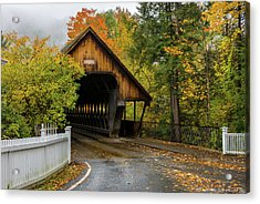 Acrylic Print featuring the photograph Middle Covered Bridge - Woodstock Vermont by Expressive Landscapes Fine Art Photography by Thom