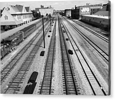 Middle Of The Tracks Acrylic Print
