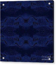 Acrylic Print featuring the digital art Midnight Blue by Rachel Hannah