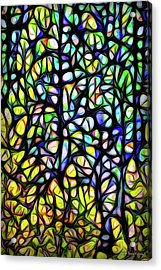 Acrylic Print featuring the digital art Midnight Forest Dimensions by Joel Bruce Wallach