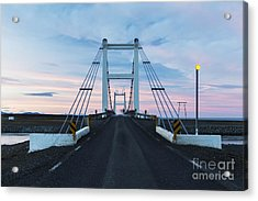 Midnight Photo Of The Bridge With The Acrylic Print