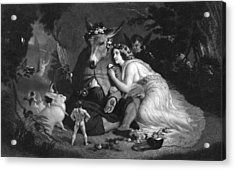 Midsummer Nights Dream Illustration Acrylic Print by Kean Collection