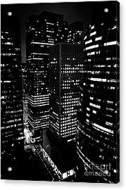 Midtown Manhattan, Nyc, Clear Winter Night Acrylic Print by JMerrickMedia
