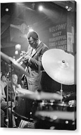 Miles Davis Performing In Nightclub Acrylic Print by Bettmann