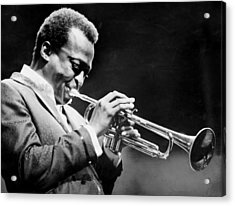 Miles Davis Performs At The Newport Acrylic Print