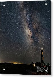 Acrylic Print featuring the photograph Milky Way And Bodie Lighthouse by Terry Rowe