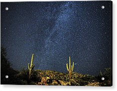 Milky Way And Cactus Acrylic Print