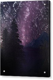 Milky Way Lake Acrylic Print