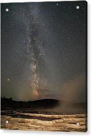 Milky Way Over Great Fountain Geyser Acrylic Print by Jean Clark