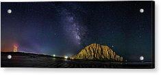 Milky Way Over Morro Rock Acrylic Print