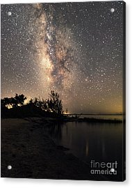 Acrylic Print featuring the photograph Milky Way Over Pamlico Sound by Terry Rowe