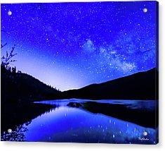 Milky Way Over Springtime Echo Lake Acrylic Print