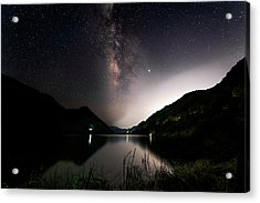 Milky Way Over The Ou River Near Longquan In China Acrylic Print