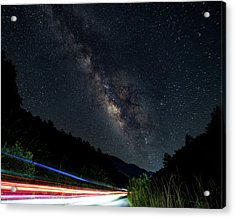 Milky Way Over The South Road Acrylic Print