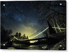 Milky Way Over The Wire Bridge Acrylic Print