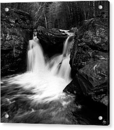 Acrylic Print featuring the photograph Mill Falls Monochrome by Wayne King
