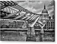 Millenium Bridge In London Acrylic Print
