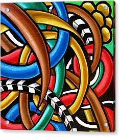 Mind Games - Abstract Art Painting - Intuitive Energy Art - Ai P. Nilson Acrylic Print