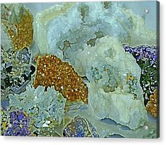 Acrylic Print featuring the mixed media Mineral Medley 12 by Lynda Lehmann