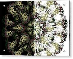 Acrylic Print featuring the digital art Minimal Trance by Vitaly Mishurovsky