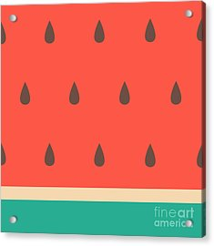 Minimalist Style Seamless Watermelon Acrylic Print