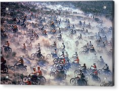 Mint 400 Motocross Race Acrylic Print by Bill Eppridge