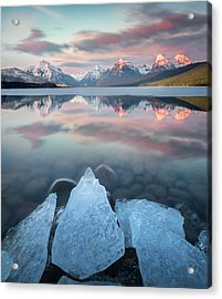 Mirrored Reflection / Lake Mcdonald, Glacier National Park  Acrylic Print