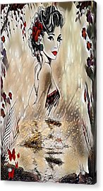 Miss Playful Red Acrylic Print