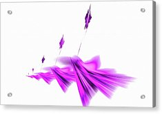 Missile Command Purple Acrylic Print
