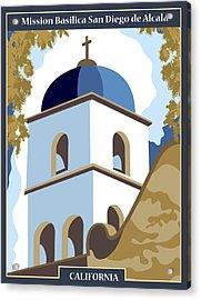 Mission Basilica San Diego De Alcala Acrylic Print
