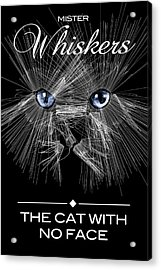 Acrylic Print featuring the digital art Mister Whiskers by ISAW Company