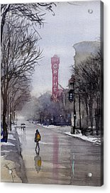 Misty Morning On Stae Street Acrylic Print