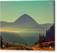 Acrylic Print featuring the photograph Misty Mountain Morning by Pete Federico