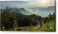 Misty Mountain Morning Acrylic Print