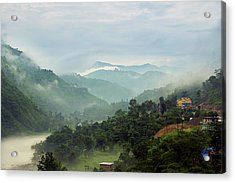 Acrylic Print featuring the photograph Misty Mountains by Whitney Goodey