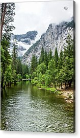 Misty Mountains, Yosemite Acrylic Print
