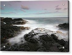 Misty Surf, Puna Coast Acrylic Print by Don Smith