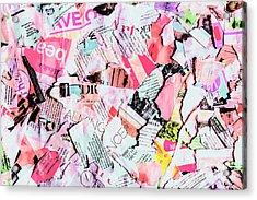 Mixed Media Messages Acrylic Print