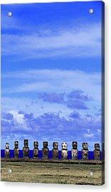 Moai At Ahu Tongariki, Easter Island Acrylic Print by Buena Vista Images